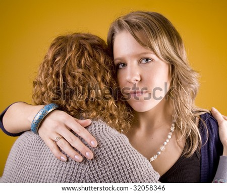 Supporting a friend in need. - stock photo