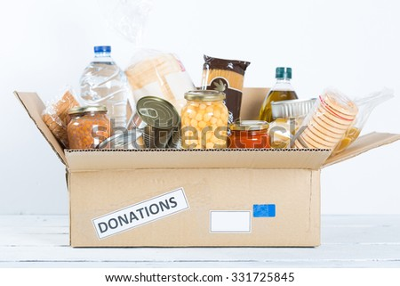 Supportive housing or food donation for poor - stock photo