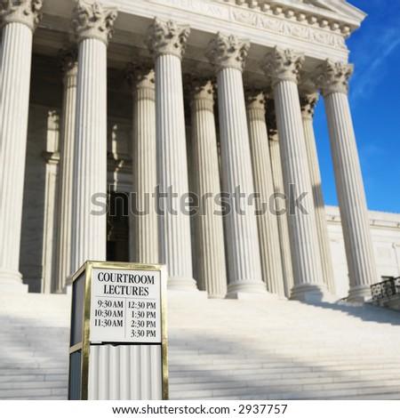 Supreme Court building. - stock photo