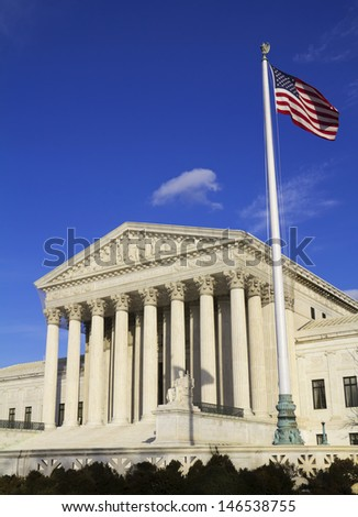 Supreme Court building in Washington DC - stock photo