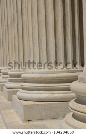 Supreme Court building in Washington DC - Columns detail
