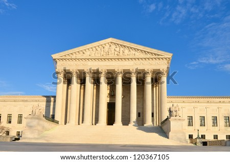 Supreme Court building - Washington DC, United States - stock photo