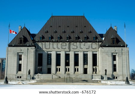 Supreme Court Canada front view - stock photo