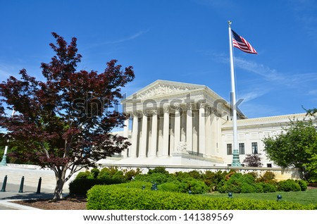 Supreme Court in Washington DC - stock photo