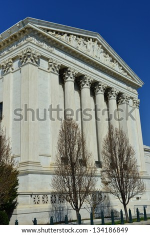 Supreme Court in Washington, DC, United States - stock photo
