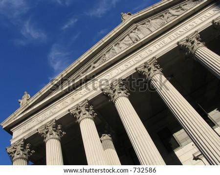 Supreme Court, New York - stock photo