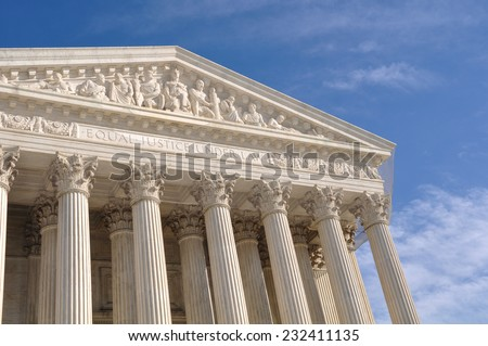 Supreme Court of the United States of America - stock photo