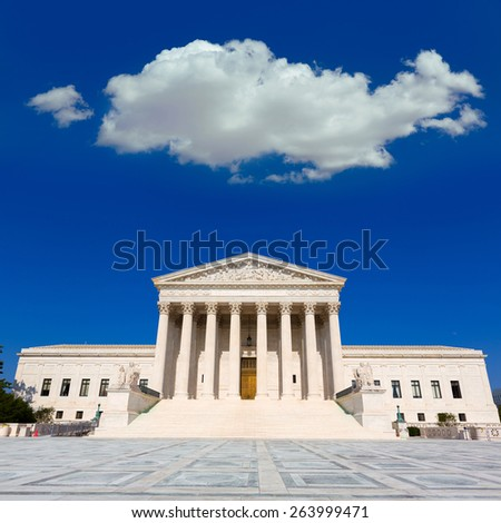 Supreme Court of United states building in Washington DC - stock photo