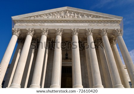 Supreme Court of United States in Washington DC - stock photo