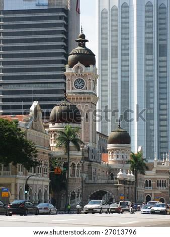 Supreme court, Sultan Abdul Samad building in Kuala Lumpur, Malaysia - stock photo