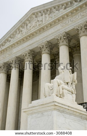 Supreme Court Washington DC travel series 72 - stock photo