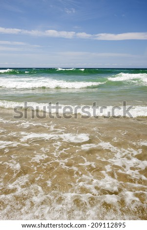 Surf and beach, Gold Coast Australia - stock photo