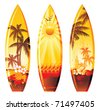 surf boards - stock photo