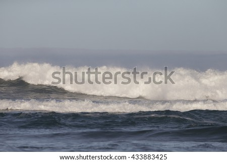 Surf crashing on Morro Beach California - stock photo