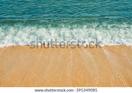 Surf on the Seashore of Black Sea - stock photo