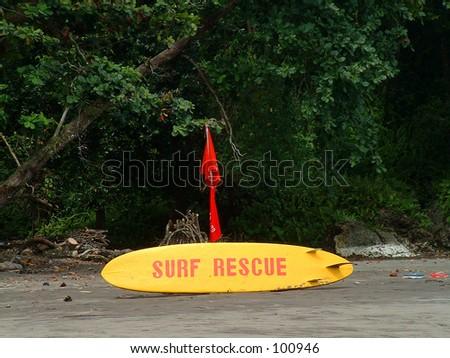 Surf Rescue board - stock photo