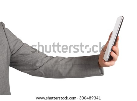 Surf the internet from mobile phone anywhere - stock photo