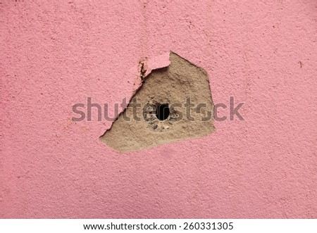 Surface crack background color image, Pink color background, Cracked Texture. - stock photo