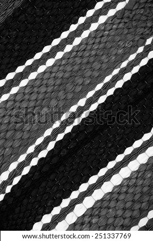 Surface doormat black and white. - stock photo