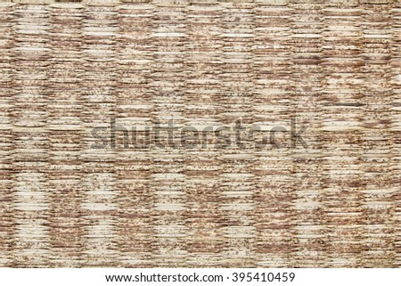 Surface mat woven into beautiful patterns background. Mat,reed texture natural materials. - stock photo