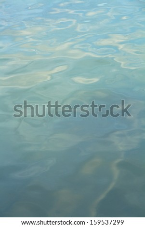 Surface of green sea - stock photo