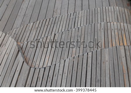surface of old wooden plank floor abstract background