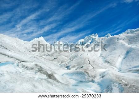 Surface of Perito Moreno glacier, in patagonia, Argentina. - stock photo