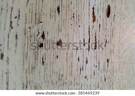 Surface of the painted white board with chips or scratches - stock photo
