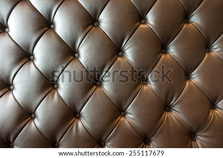 Surface of the sofa, elegant look. - stock photo
