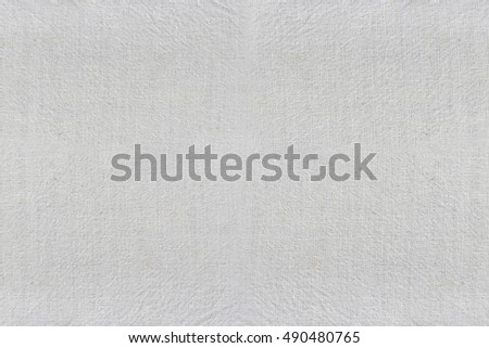 surface of the white fabric wrinkles background for design object backdrop,Texture of textile fibers.