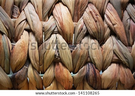 Surface of the wicker basket - stock photo