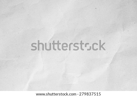 surface rough white/grey color tone crumpled paper for background:ragged carton in bright backdrop:art pattern parchment conception:recycle/reuse:square and rectangle plain page:crinkle and wrinkle. - stock photo