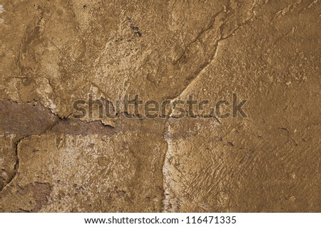 surface roughness of brass. - stock photo