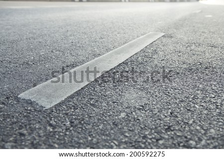 Surface street traffic The open road with no traffic in the morning. - stock photo