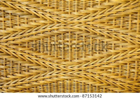 surface wicker chair - stock photo