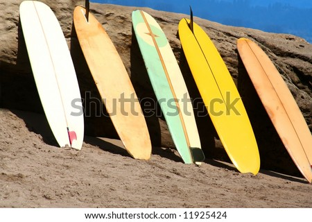 Surfboards - stock photo