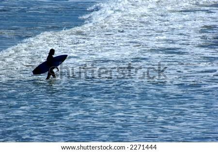 surfer - stock photo