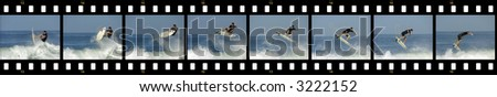 surfer air sequence - stock photo
