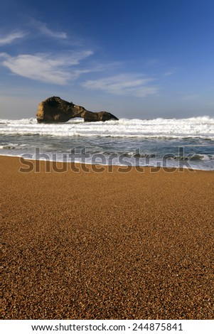 Surfer beach in Biarritz  - stock photo
