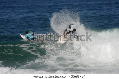 surfer in a national contest