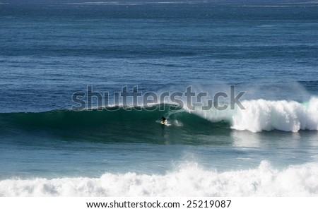 surfer in Salsipuedes, Mexico - stock photo