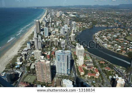 Surfer's Paradise, Gold Coast, Australia - stock photo