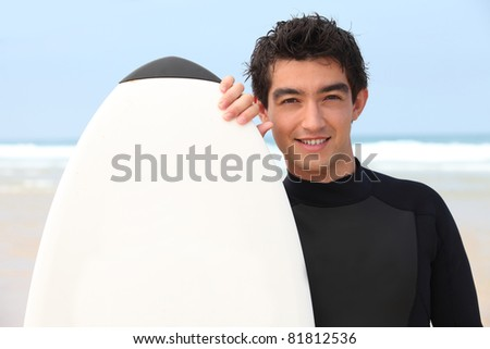surfer with his board