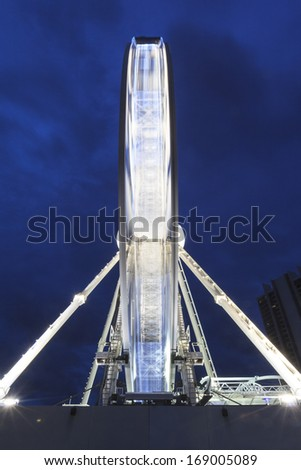 SURFERS PARADISE - FEBRUARY 22: The Wheel of Surfers Paradise was a 60 meter tall Ferris wheel and it was  located on top of the Transit Centre. Feb 22, 2012 Surfers Paradise, Australia.  - stock photo