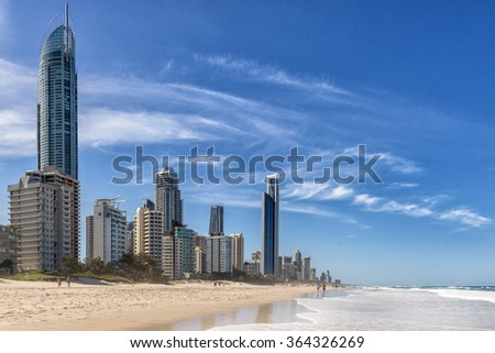 Surfers Paradise on the Gold Coast of Queensland