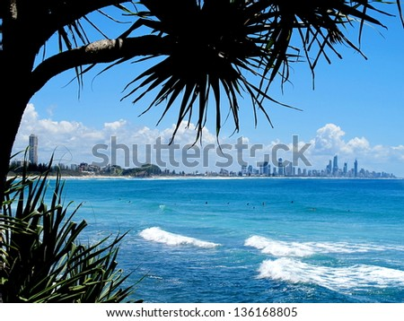 Surfers Paradise View 2 - stock photo