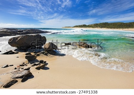 Surfers point at margaret river Australia - stock photo