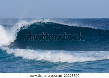 Surfers Wave - stock photo