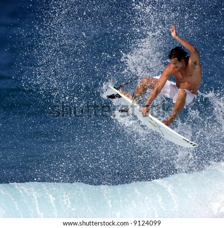 surfing air - stock photo