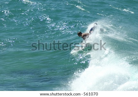 Surfing Bondi Beach Australia - stock photo